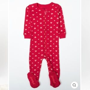Leveret Baby Footed Hearts Pajama 12-18 months